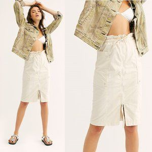 NEW Free People Just The Girl Utility Skirt